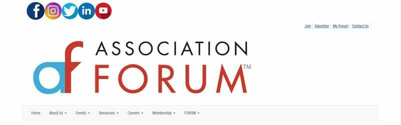 Website screenshot for Association-Forum