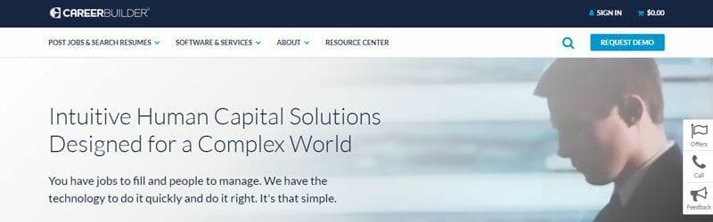Website screenshot for Career-Builder