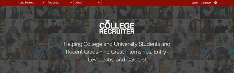 Website screenshot for College-Recruiter