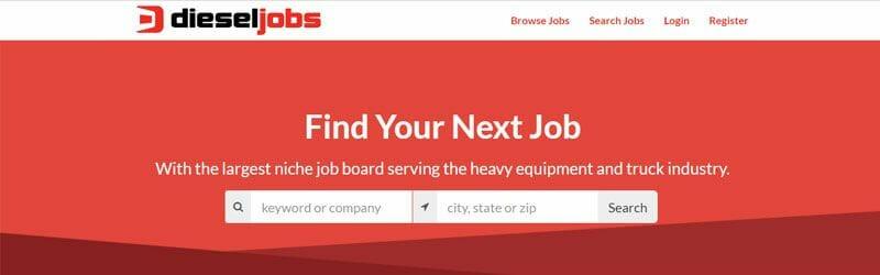 Website screenshot for Diesel-Jobs