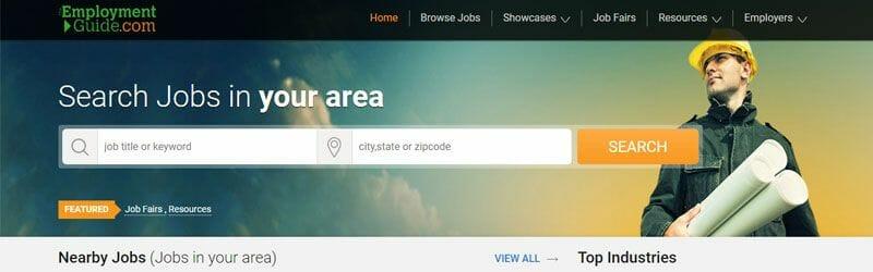 Website screenshot for Employment-Guide