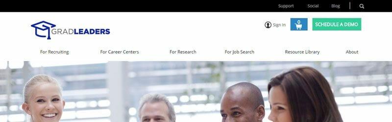 Website screenshot for Grad-Leaders