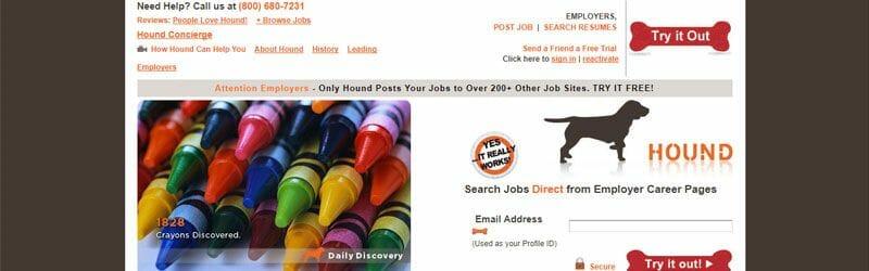 Website screenshot for Hound