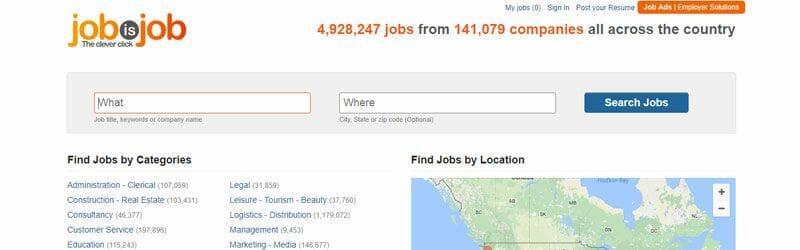 Website screenshot for Job-is-Job