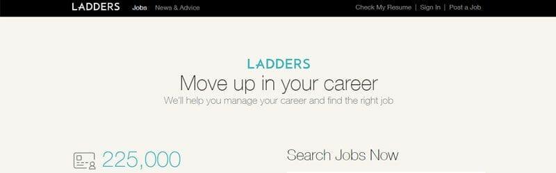 Website screenshot for Ladders