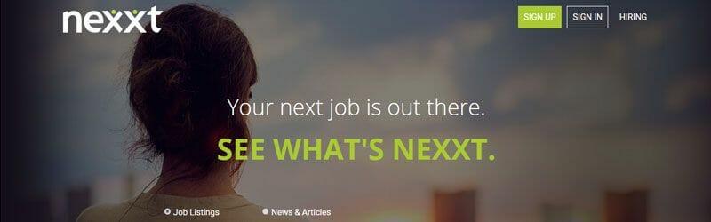 Website screenshot for Nexxt