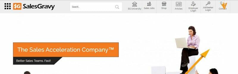 Website screenshot for SalesGravy