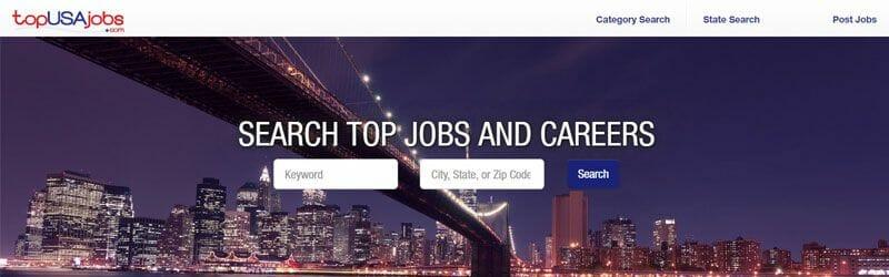 Website screenshot for Top-USA-jobs