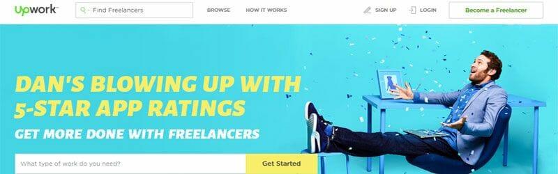 Website screenshot for Upwork