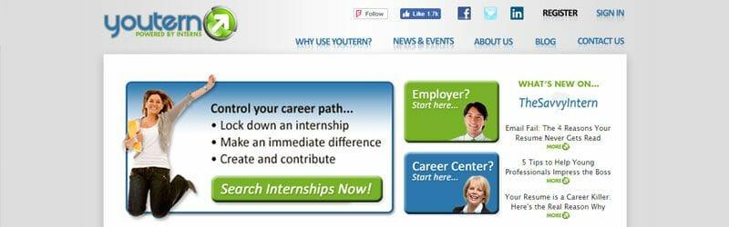 Website screenshot for YouTern